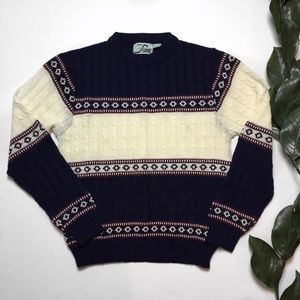 HP🎉 VTG Steep Slopes Cable Knit Christmas Sweater
